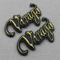 Wholesale Virago Motorcycle - Styling Motorcycle Virago Logo Plastic Gas Fuel Tank Emblem Decal Sticker For Yamaha XV125 XV250 XV400