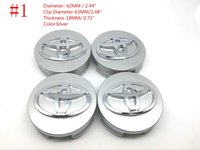 Wholesale Toyota Camry Emblems - 62mm 57mm Car Wheel Hub Center Cover Caps Emblem wheel Hub Center Badge Sticker for toyota Camry Corolla Avalon Venza Prius Auris EZ Yaris