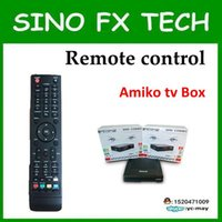 Wholesale-Freeship 2016 Singapour Amiko mini combo DVB SCABLE BOX télécommande / télécommande pour set top box