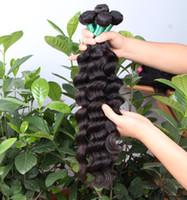 ingrosso bundle dei capelli in linea-Acquista i capelli umani online Deep Wave intrecciare i capelli alla fine, 50g per bundle 6 Bundles per lotto, peruviani Deep Wave Hair