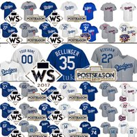 Wholesale Purple Custom - 35 Cody Bellinger Custom Los Angeles Dodgers Baseball Jersey 22 Clayton Kershaw 5 Corey Seager Gonzalez Puig Robinson Justin Turner Jerseys