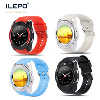 Wholesale Android Ips Gsm - GSM V8 smart phone watch with Bluetooth 3.0 IPS HD Full Circle Display 0.3M Camera sport smartwatch