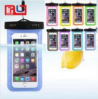 teléfono celular de 4.7 pulgadas al por mayor-Funda impermeable de plástico al aire libre del PVC del bolso del deporte Caja universal del teléfono celular de la protección del teléfono celular para el teléfono elegante 4.7 pulgadas / 5.5 pulgadas