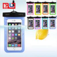 iphone akıllı cep telefonu toptan satış-Su geçirmez Çanta Açık PVC Plastik Kuru Vaka Spor Cep Telefonu Koruma Evrensel Cep Telefonu Kılıfı Için Akıllı Telefon 4.7 Inç / 5.5 Inç