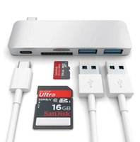 Wholesale Chrome Speed - Aluminium High Speed USB 3.0 Type C Hub with Charge 5 in 1 for Macbook 12 Inch 13 Inch Chrome Book 10 Pieces Lot