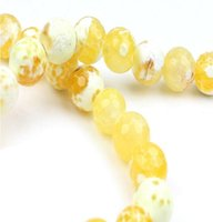 Wholesale Orange Crystal Faceted - 4 6 8 10 12 mm,Orange Faceted Agate Beads,Natural Stone Loose Beads,Fit For Necklace Bracelet DIY Jewelry
