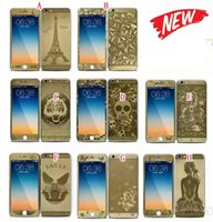 Wholesale Skin For Iphone Paris - 2.5D Curved Electroplate Tempered Full Body Glass Front Color Screen protector Paris Eiffel Tower Diamond For Iphone 6 6S Plus 4.7 5.5 Skin