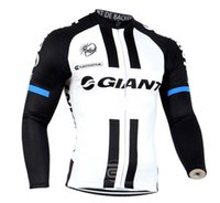 Wholesale cream long sleeve - Giant 2017 Long Sleeve Cycling Jersey Maillot Ciclismo hombre Bicycle Sport Cycling Clothing Tops Mountain Bike Ropa Ciclismo D0801