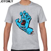 Wholesale Wholesale Mens Fashion Shirts - Wholesale- Joy Only New Skateboard Skate Santa Cruz t shirt Men Casual Fitness Skate t-shirt Mens Clothing Camisetas 3D Printed Tops TA60
