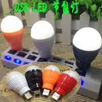 Wholesale Energy Saving Lamp Cup - Nightlight Apple millet Samsung USB mobile power charging head lamp energy-saving bulb LED flashlight