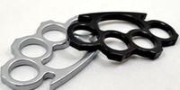 nudillos de latón de acero al por mayor-Fregonas de nudillo de latón de acero fino plata y negro 2PCS