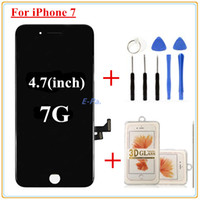 Wholesale Iphone Display Film - 1pcs For iPhone 7 LCD Original screen Quality AAA Lcd Display Digitizer Full Assembly With Good 3D touch + Open Tools + 3D protective film