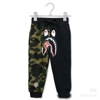 Wholesale Kids Pants Trouser Monkey - Spring Autumn Winter New Sports Camouflage Patchwork Baby Kids Long Pants Children casual Cotton Trousers Monkey Printed trousers