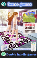 Wholesale Dance Pad For Tv - HOT 2017 new KL English menu 11 mm thickness single double dance pad Non-Slip Pad yoga mat two remote controller sense game for PC & TV