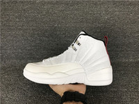Wholesale Plush Roses 12 - 2016 New air retro 12 XII Rising Sun white 12s men basketball shoes sports sneakers wholesale trainers discount Top Quality size 7-13