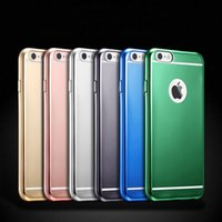 Wholesale Iphone Back Housing Transparent - Soft Tpu Plating Case For Iphone 6 7 Plus Matte Silicone Back Cover Housing For Iphone 7 6s Plus Phone Bags Capa