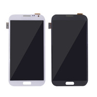 Wholesale Screen Lcd Galaxy Note2 - For Samsung Galaxy note2 LCD Display Digitizer Touch Screen assembly n7100 N7102 5.5 inch Gray White best quality Free Shipping