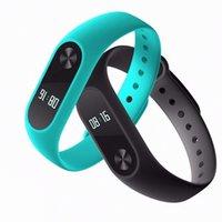 Wholesale Dhl Free Shipping Bracelet - DHL free shipping original Bluetooth4.0 Waterproof IP67 MiBand2 Wristband Bracelet Smart Heart Rate Monitor Fitness Tracker OLED Touchpad