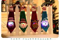 ingrosso i migliori legami natali-2017 Nuove decorazioni natalizie Cravatte per bambini e adulti Carino Babbo Natale Legami migliori regali di decorazione natalizia