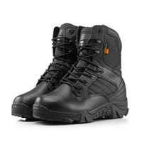 Unisex outdoor gear boots - Tactical Boots Round Toe Men Desert Combat Boots Outdoor Mens Leather Army Ankle Boots Tactical Gear Sports Shoes