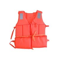 Wholesale Life Jacket Orange - Wholesale- Bulk Whoesale Professional Orange Foam Swimming&Flood Life Jacket with Whistle Free Shipping