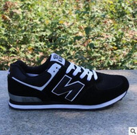 Wholesale New Balances - New 2017 admission men and women 574 balance casual sports shoes lovers shoes running shoes size 36-44