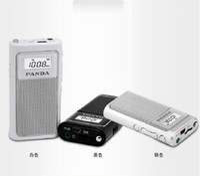 Wholesale portable small speaker - Wholesale-PANDA   Panda 6200 mini pocket portable charging the elderly MP3 card small FM radio new good