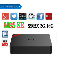 2GB 16GB M95 SE Android 6.0 TV Box Amlogic S905X Quad Core Marshmallow Smart Mini PC 2G RAM 16G H.265 WIFI 4K * 2K UHD HDMI USB Media Player