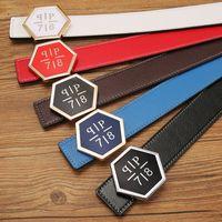Wholesale Active P - Hot Punk P Belt Mens womens high Quality Genuine Leather black and white color Designer Cowhide Q Belt For Mens womens Luxury Belt