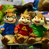 Wholesale Wholes Video Games - Free shipping Alvin and the Chipmunks plush toy chipmunk whole family plush toy 3 pcs set