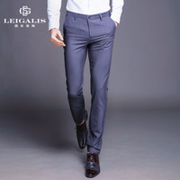 Wholesale Wholesale Business Clothes - Wholesale- hot sale mens business casual pants fashion stretch chino for men dress plus pantalon home brand clothing full length spring