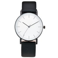 Wholesale Leather Collar Wrist - Waterproof Watches Watch Men Women Simple Erkek kol saati Clock Fashion Saat erkekler White Collar Wrist Watches Relogio