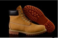 Wholesale Mens Casual Leather Motorcycle Boots - Fashion Classic 10061 Wheat Yellow TBL Boots Women Mens Retro Waterproof Outdoor Work Sports Shoes Casual Sneakers Size 36-44