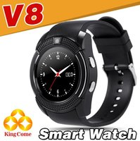 English oxygen blue - V8 Smart Watch Bluetooth Watches Android with M Camera MTK6261D Smartwatch for android phone Micro Sim TF card DZ09 A1 Q18Facebook Google