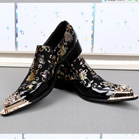 Wholesale Mens High Heel Pointed Shoes - High heels mens derby dress shoes men fashion pointed Men Wedding Dress Party Slip On Oxfords Shoes Creepers DHL send
