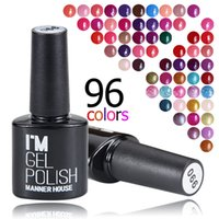 MANNER HOUSE Black Bottle 10ML Neon Rainbow Shimmer Gel duraturo Gel per unghie Nail Polish Gel Polish LED UV # 01- # 21