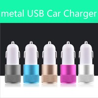 Best Metal Dual USB Port Chargeur voiture Universal 12 Volt / 1 ~ 2 Amp pour Apple iPhone iPad iPod / Samsung Galaxy / Motorola Droid Nokia Htc