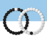 Wholesale Silicone Bracelet Mix Color - Mixed color faith beads silicone bracelet high quality through silicone bracelet White & black in stock DHL shipping