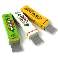 Wholesale Gag Chewing Gum - New Interesting Toys Electric Shock Shocking Funny Pull Head Chewing Gum Gags Safety Trick Joke Toy Novelty Items Lowest Price