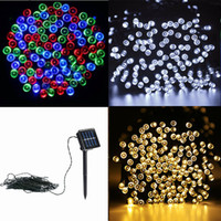 Wholesale Oval Leds - Led String Light 22M 200 LEDs Solar Powered String Light Outdoor Fairy Lamp Waterproof Outdoor Decoration Light Christmas Lights