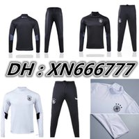Wholesale Germany Suits - 17 18 Germany soccer jackets uniforms sportswear OZIL MULLER GOTZE HUMMELS 2017 2018 Men Training suit germany football Tracksuits jackets