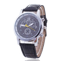 Wholesale Wirst Band Watch - Men Wristwatch Luxury Crocodile Leather Band Casual Watch Analog Quarzt Wirst Watches Trendy gifts Homme Hombre Horloge Uomo Montre WATCH