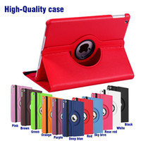 Wholesale ipad air folio case - 360 Rotating leather case Smart cover For iPad pro air3 air