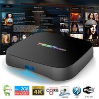 Wholesale Smart Tv Upgrade - 10PCS!! T95R Pro TV Box Android 7.1 2GB 16GB Amlogic S912 Octa Core KDMC 17.1 4K T95 Upgrades WiFi BT4.0 Smart Media Boxes Better T95Z S905W