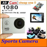 "Wholesale Cheap Cmos Camera - Sports HD Action Camera Diving 30M 2"" 140° Meter Waterproof Cameras 1080P Full HD SJcam Helmet Underwater Sport DV Car DVR cheap A9 JBD-D10"
