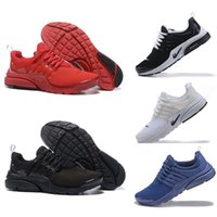 Wholesale Fine Lighting - Original 2017 Air Presto Running Shoes Fine Mesh Breathable Air Presto Blackout Cheap Sneaker Red Navy Blue Triple White Black Fall Olive