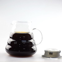 Compra Stile Server-1PC Hot Coffee Dripper Hario Style Coffee Server Bollitore per caffè 300ML 600ML