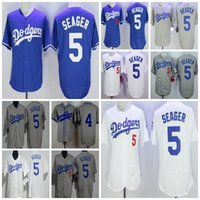 Wholesale Cheap Female Jerseys - 2017 Cheap Men Toddler Los Angeles Dodgers Female Child Babe Herman 5 Corey Seager kids Throwback Flex Cool Baseball Jerseys Grey White Blue