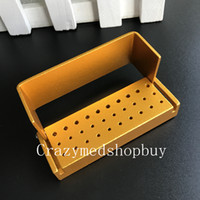 Wholesale Holder Dental - 1pc ALUMINIUM Dental Bur Burs Holder Block Disinfection Box Autoclave 30 Holes