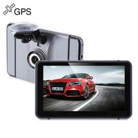 Wholesale Media Player For Displays - Car DVR 7 inch Android 4.0 Quad Core 1080P Car GPS Navigation DVR Recorder FM Transmitter Media Player 8G Internal Memory for Vehicles +B